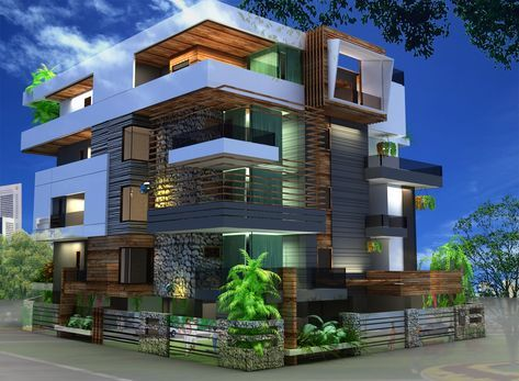 #modern #elevation #architecture #theccgroup #facade #exteriorview #amazing #designs #spaces