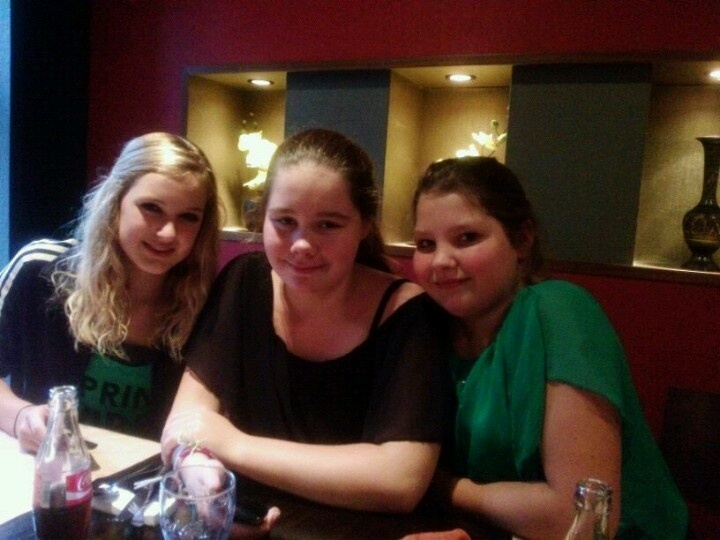 With Samantha and Denise