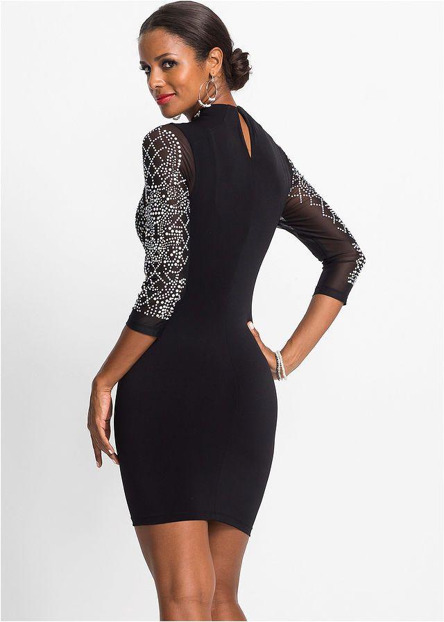 3775c3cc5358 Štrasové šaty • čierna • bonprix obchod
