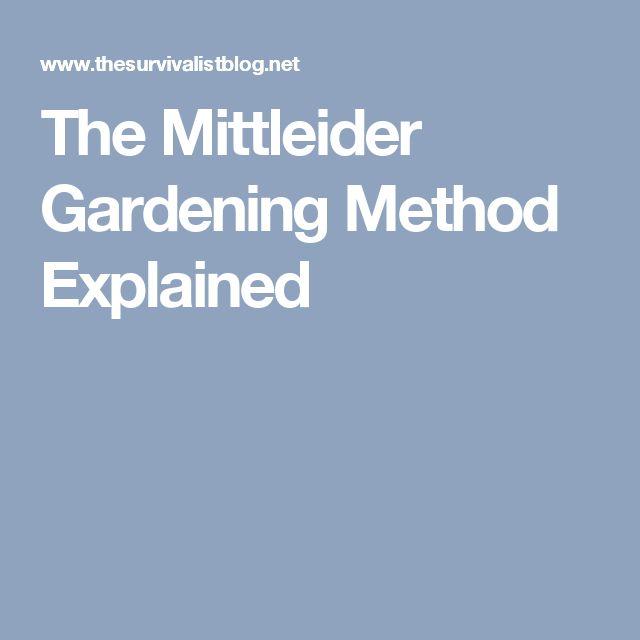 The Mittleider Gardening Method Explained