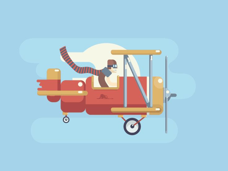 Spread the wings! Get ready to fly! More inspiring works on our Dribbble!  #animation #dribble #animation #blue #cloud #dream #flight #gif #illustration #pilot #plane #sky #wind #wings