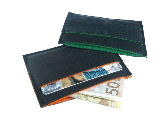 Kartenetui,Kartenhüllen,Veganes Kartenetui,Minimal Wallet,Slim Wallet,Vegane Taschen,Bike inner Tube, Eco-friendly, Vegan, Upcycling