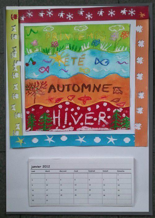Un calendrier qui passe les saisons facile à réaliser avec une grande section.