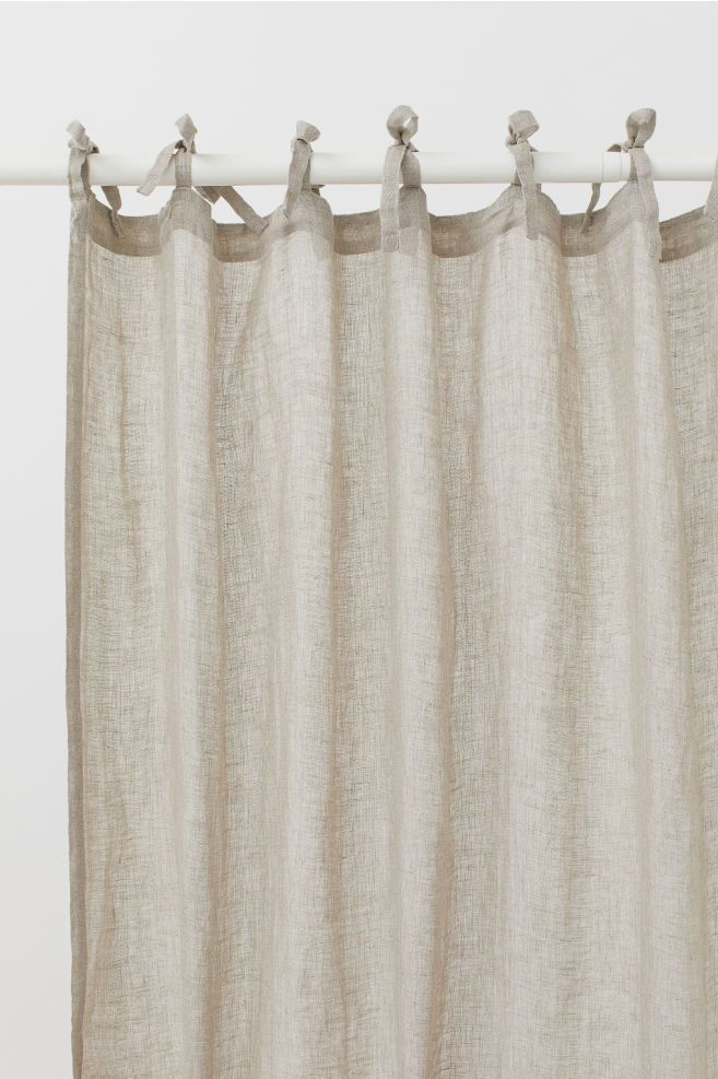 2 Pack Linen Curtain Panels Light Beige Home All H M Us 2 Linen Curtain Panels Linen Curtains Panel Curtains
