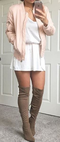 Over the knee suede boots