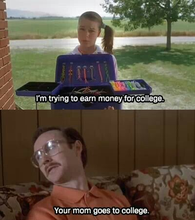 Napoleon Dynamite. I love how Kip just smirks after he said that.