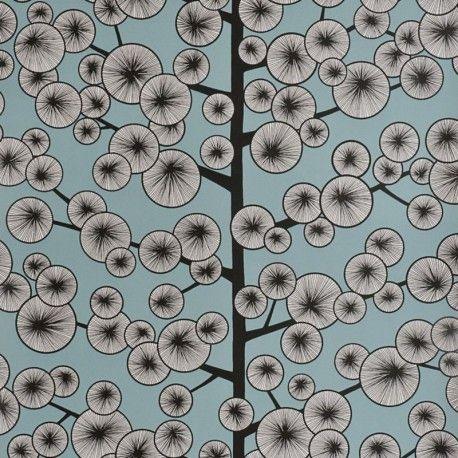 Cotton Tree Sky Blue Wallpaper