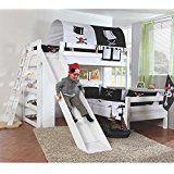 Kinderbett Etagenbett Moritz Buche Vollholz massiv weiß lackiert mit Rutsche in Weiß inkl. Rollrost - 90 x 200 cm, teilbar: Amazon.de: Küche & Haushalt