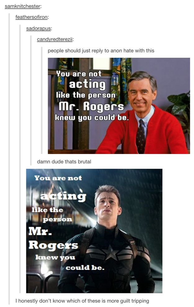 And finally, when they came up with not one, but two perfect images to respond to haters. | 24 Times Tumblr Had Hilariously Great Ideas For The Avengers