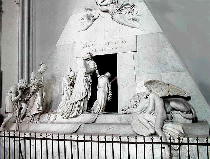 Monumento funebre a Maria Cristina d'Austria, 1798-1805, marmo Augustinerkirche, Vienna
