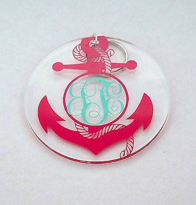 "Anchor Decal, 4"" Yeti Sticker, Oracal Vinyl 651, Monogram, Car Decal, Nautical"