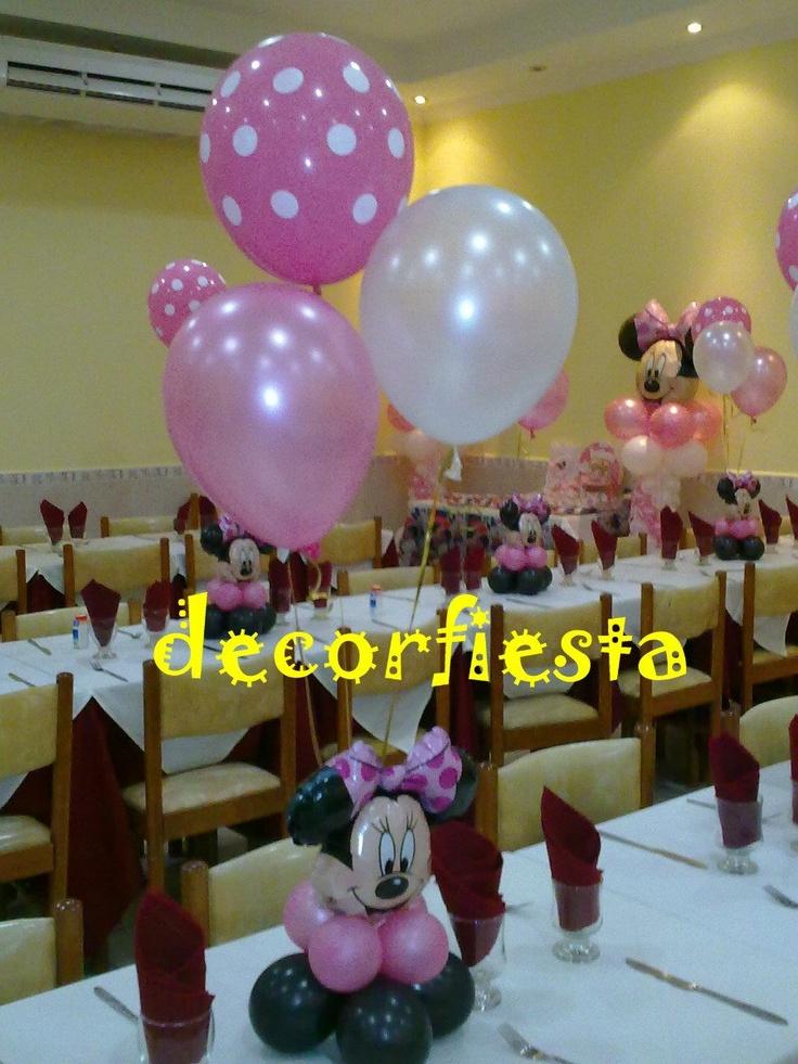 Mesas decoradas con globos centros de mesa pinterest - Centros de mesa con globos ...