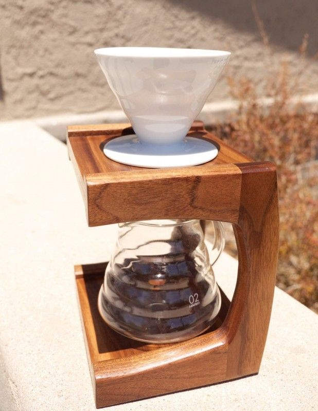 Walnut Coffee Pour Over Stand | The Wood Whisperer