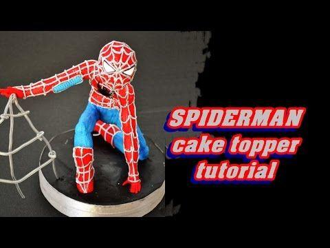 How to Spiderman cake topper fondant - tutorial uomo ragno pasta di zucchero per torta - YouTube