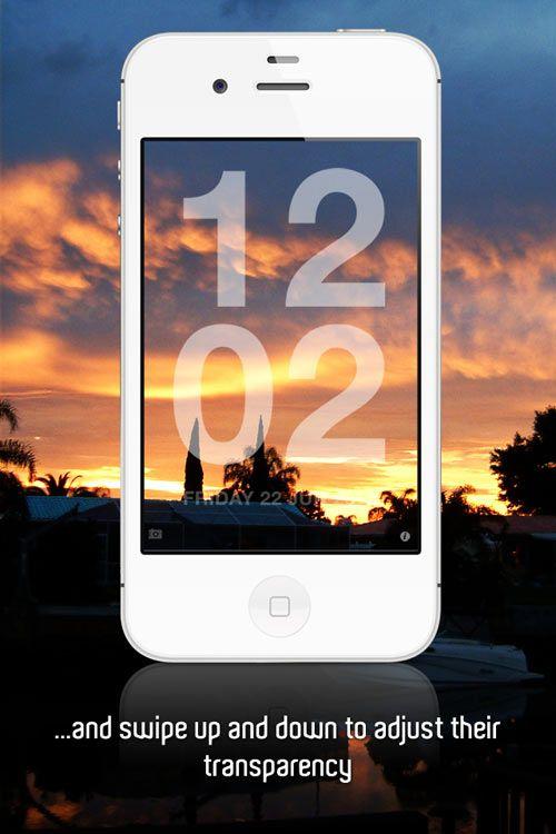 Chameleon Clock App Photo