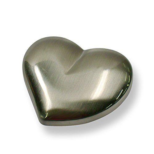 M�belknopf Treuchtlingen, Herz, Kinder, Kunststoff - Silber