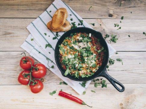 Jajka sadzone na boćwinie [danie w 20 minut]