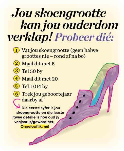Jou skoengrootte kan jou ouderdom verklap