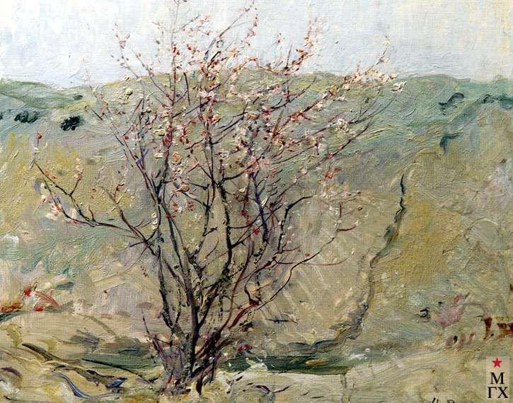 Ромадин Н.М.Цветущий персик. 1942.jpg