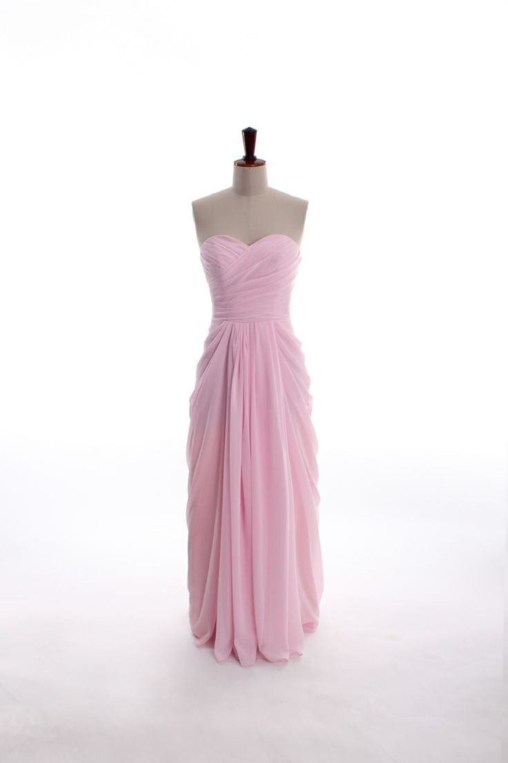 sweetheart neckline chiffon dress (in floor-length) discount price for Ashley