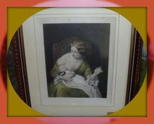 Circa 1865 engraved J.FRANCK, Sculp.Charming Mother and Child  picture