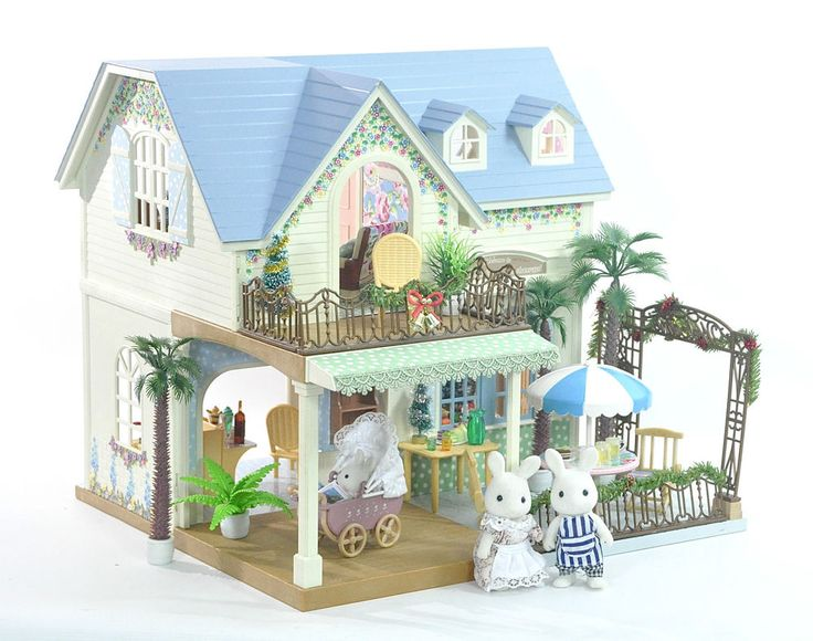 *fistuff* Sylvanian Families Decorated XMas Courtyard Restaurant/House + LOTS | eBay