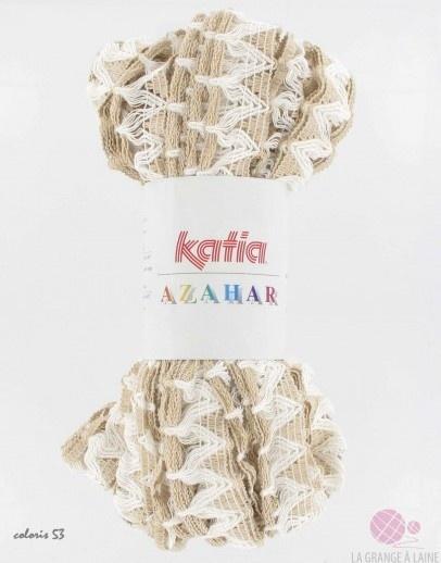 Katia azahar la pelote azahar de katia a t con ue sp cialement pour cr er des charpes ou - Combien de pelote pour une echarpe ...
