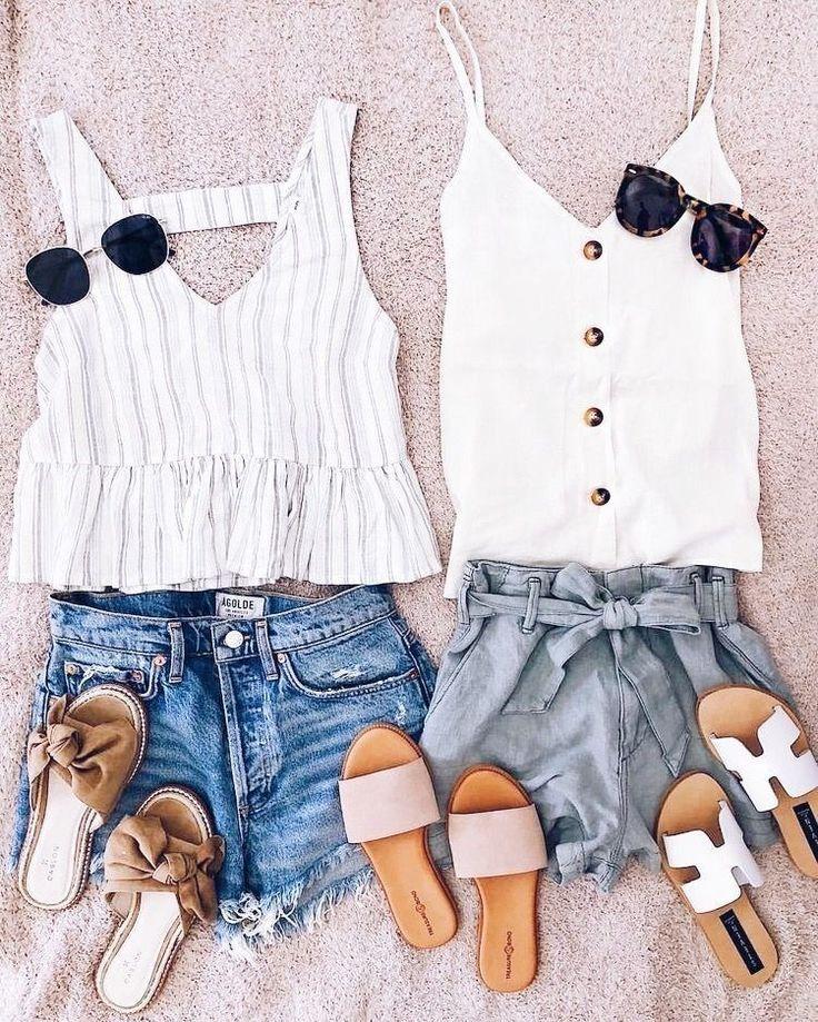 Hübsche Sommer-Outfit-Ideen für Teenager-Mädchen 26 #hubsche #ideen #madchen #outfit #sommer …