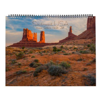 Southwest USA Calendar -nature diy customize sprecial design