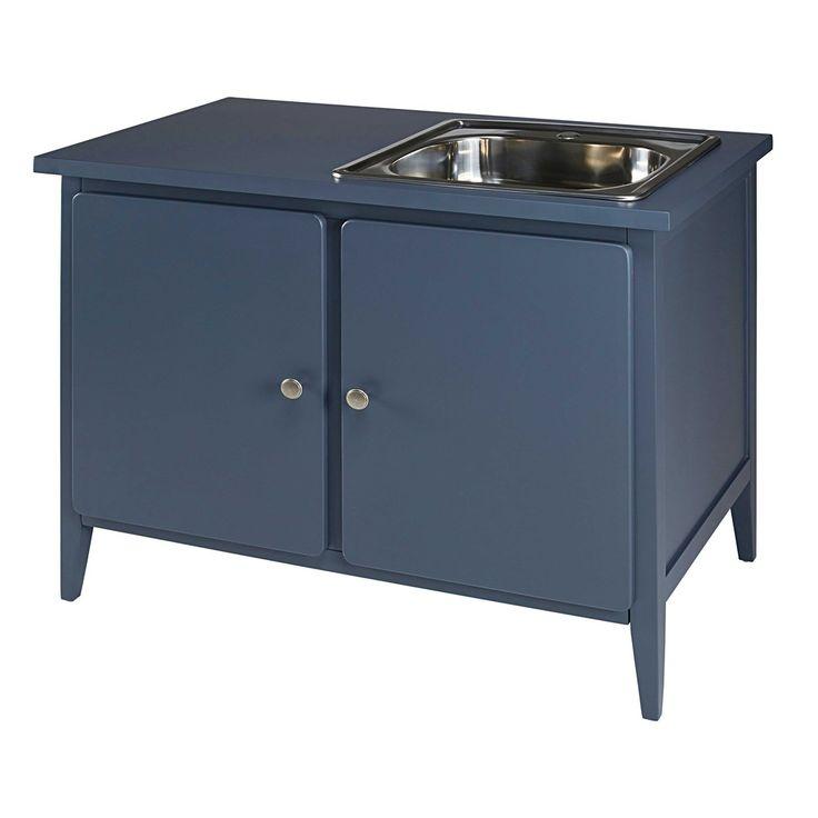 Küchenunterschrank 2 Türen graublau | Maisons du Monde