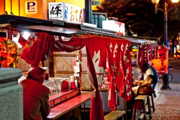 Street Food from a Yatai in Fukuoka, Japan