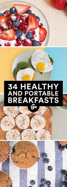 34 Healthy Breakfasts for Busy Mornings #healthy #breakfast http://greatist.com/health/healthy-fast-breakfast-recipes?utm_source=pinterest&utm_medium=greatist&utm_campaign=healthy-fast-breakfast-recipes&sr_share=pinterest?utm_source=pinterest&utm_medium=s