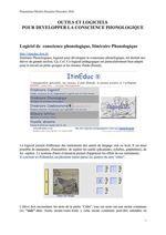 Logiciels pour la lecture et la conscience phonologique en maternelle ( Propositions Michèle Drechsler)