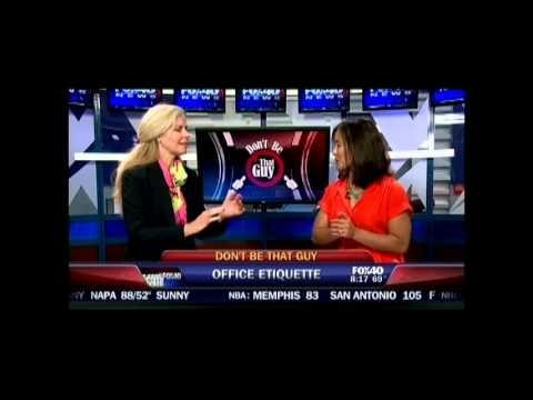 Etiquette expert Rebecca Black discusses Office Etiquette with Sabrina Rodriguez