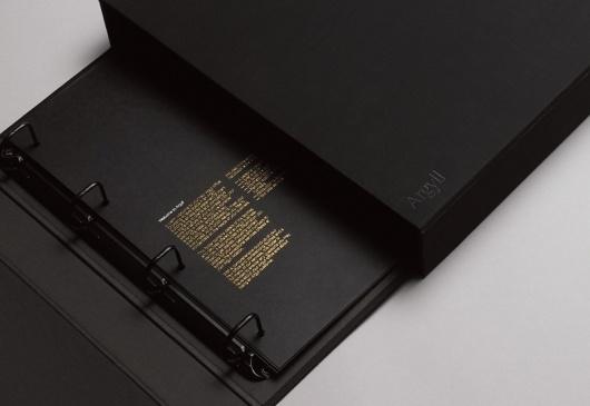 #design #brochure #binder #gold #foil #black