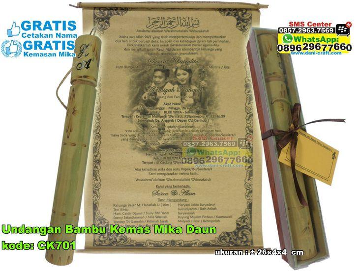 Undangan Bambu Kemas Mika Daun WA/ SMS Center: 0857.2963.7569 Telp/SMS/WA: 0813.2660.1110 (telkomsel) 0896.296.77.660 (tri) 0819.0403.4240 (xl)  PIN BBM: 59E 8C2 B6. #undanganbambu  #undanganbambukemasmikadaun  #undanganbambumurah  #undanganbambuunik  #undanganbambugrosir  #grosirundanganbambumurah  #jualundanganbambu  #jualundanganpernikahan  #jualundanganpernikahanbambu  #undanganbambucantik  #undanganbambumurahmeriah
