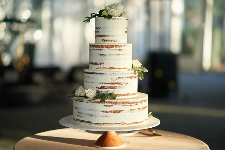 Beauty in Simplicity Naked Wedding Cake by PPHG Executive Pastry Chef, Jessica Grossman
