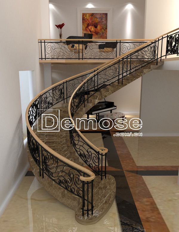 Best Italy Wrought Iron Spiral Stair Case Indoor Stair 400 x 300