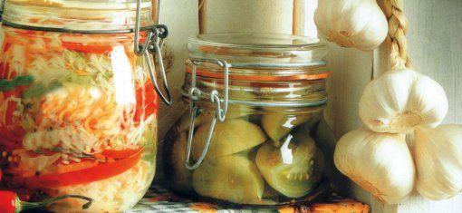 Zelenina v pohároch