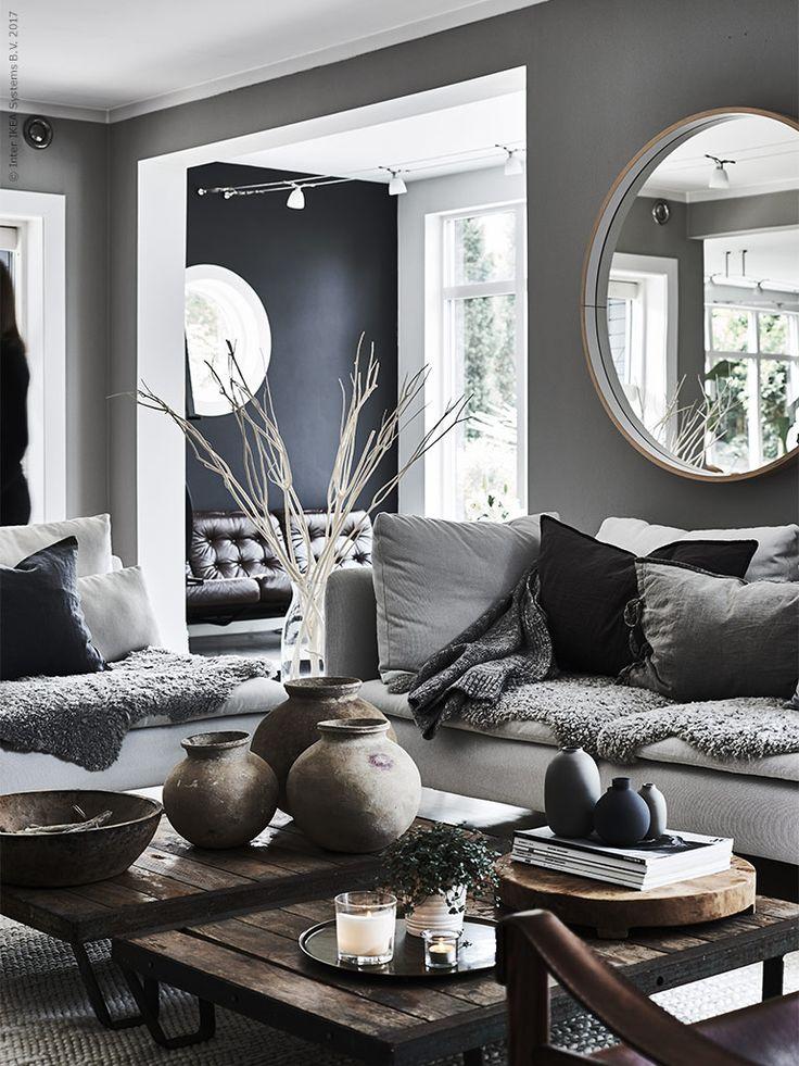 Grafiskt på display | IKEA Livet Hemma – inspirerande inredning för hemmet SÖDERHAMN 3-sits soffa 4 995 kr, Finnsta vit.