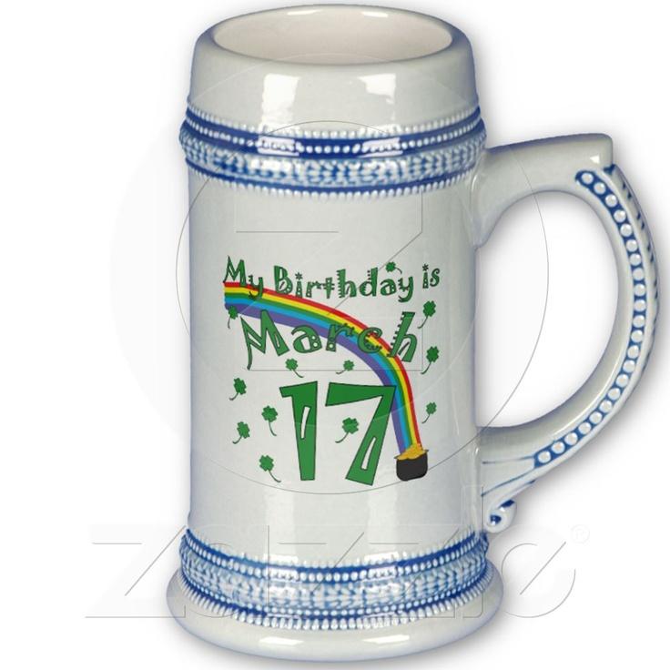 St. Patrick's Day Birthday Coffee Mug from Zazzle.com