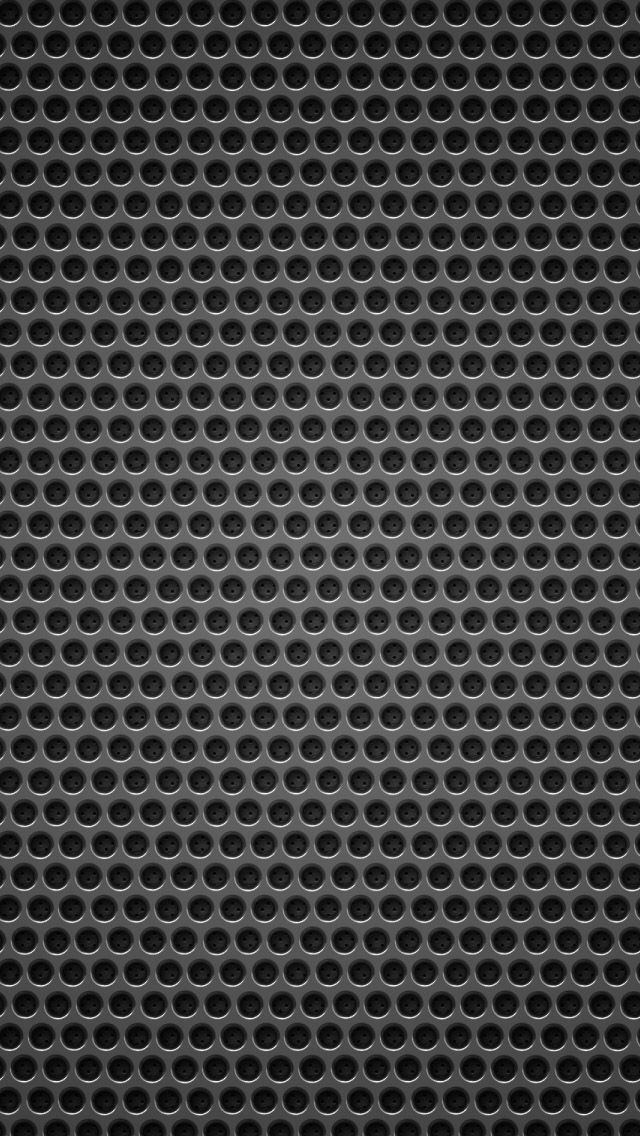 Black background metal hole iPhone 5 Wallpaper