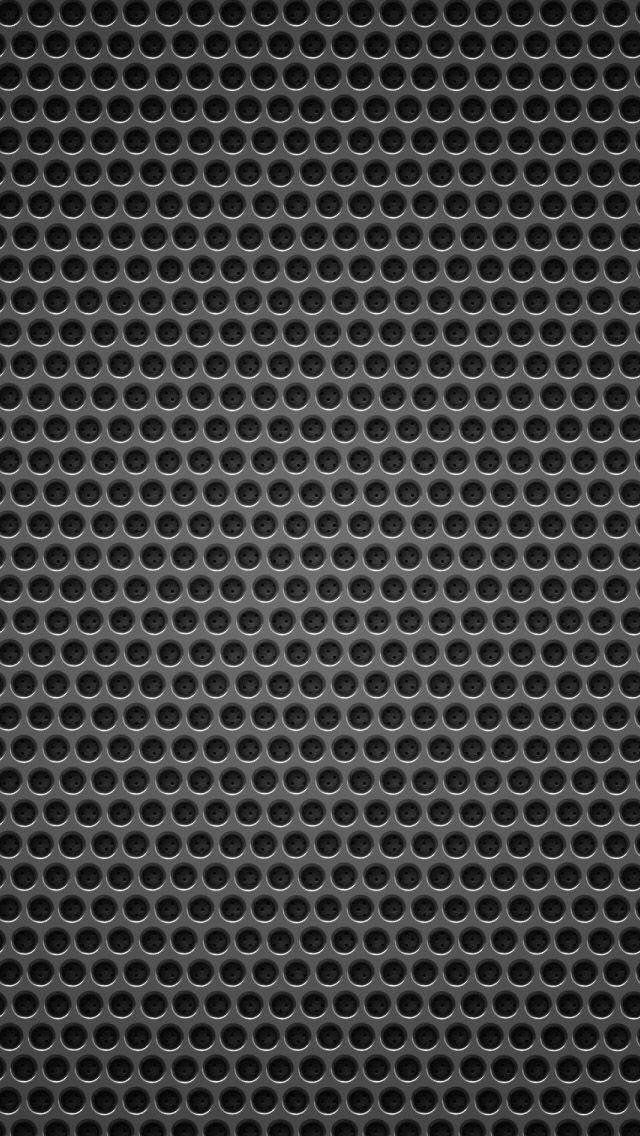 Black background metal hole iPhone 5 Wallpaper