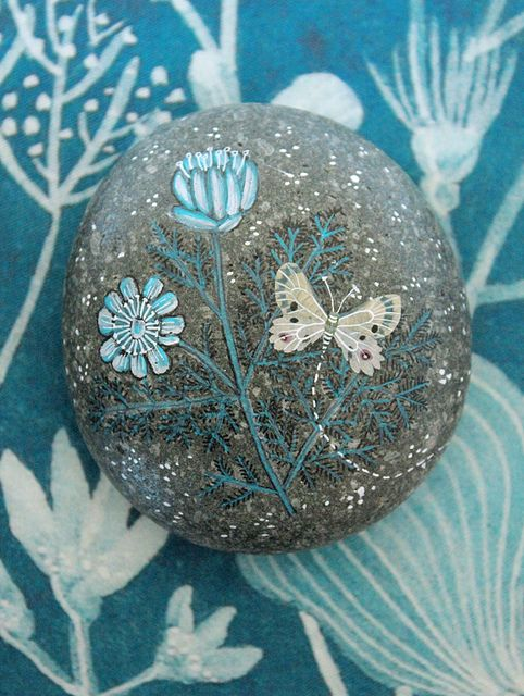 I always wanted to paint pictures on stones, then put them back outside to be found & wondered about by someone else.