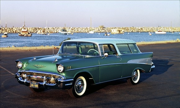 Chevrolet Nomad Wagon (1955-1957).  I SO want this.  A station wagon with fins!!!