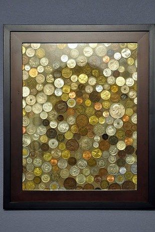 Turn coins from former trips into a picture