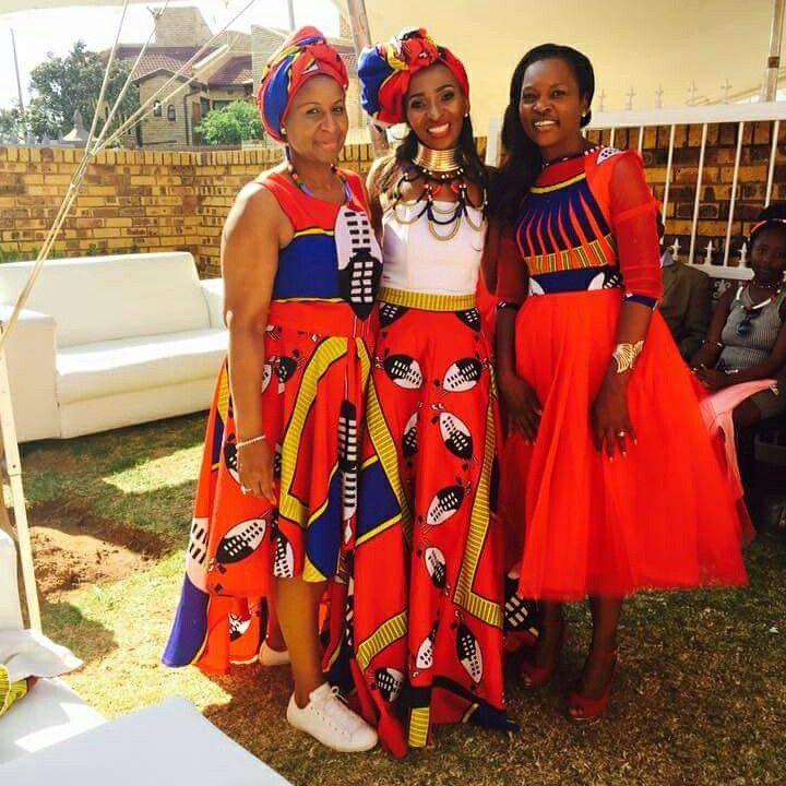 African makoti.  Swazi outfit.  Swati Makoti Wedding outfits