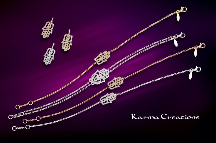 Karma Creation's has a collection of exquisite hamsas.  How will you wear your Karma?