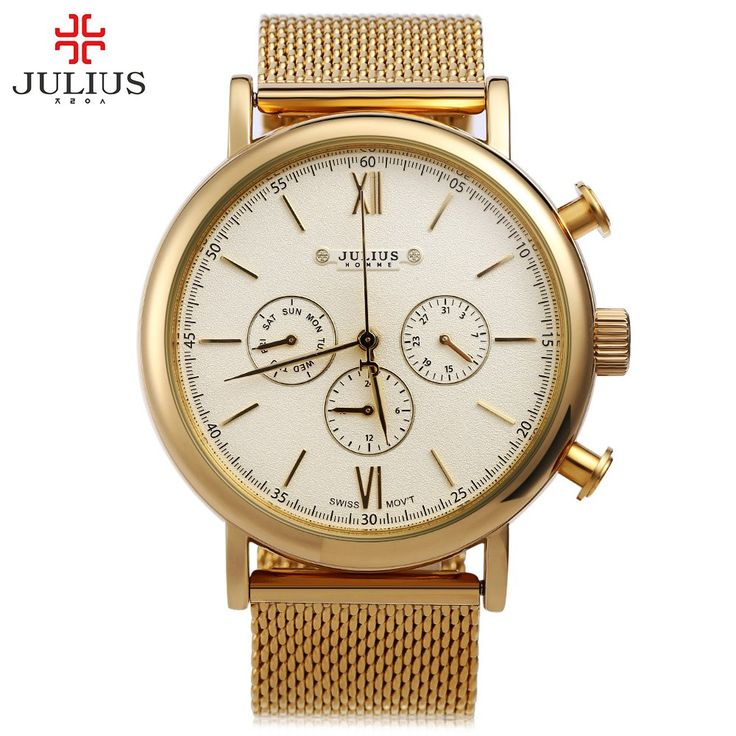 Top Brand Julius Men Watches Luxury Stainless Steel Mesh Band Gold Watch Man Business Quartz Watch Male Wristwatch Relogio homme   Tag a friend who would love this!   FREE Shipping Worldwide   Get it here ---> https://shoppingafter.com/products/top-brand-julius-men-watches-luxury-stainless-steel-mesh-band-gold-watch-man-business-quartz-watch-male-wristwatch-relogio-homme/