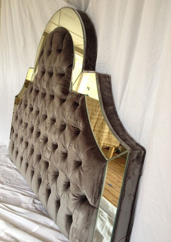 ... Custom Upholstered Headboard with Mirrors by NewAgainUph, $675.00